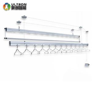 aluminum alloy 3 rods hand lifting ceiling mounted manual clothes
