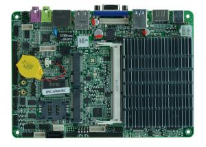China Fanless 4 inch 6 COM Embedded industrial Motherboard with USB3.0 , Intel® J1900 CPU on sale