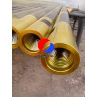 """SPT Steel Drill Rods Hot Rolled Golden Colour Drive Rods With 1 1 / 2"""" Thread"""