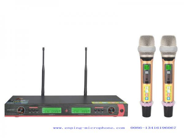 UGX10II UHF wireless microphone system with IR selectable
