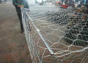 China Woven Hexagonal Wire Mesh Gabion Basket / Gabion Wall Cages 10 - 15 Years Life Time on sale
