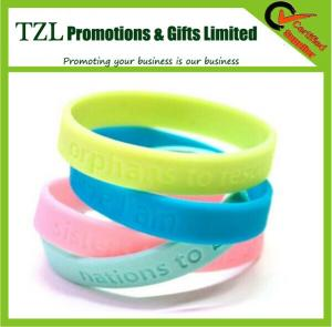 China Best for Gifts Printing Logo Silicone Wrist Band on sale