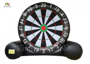 China Black 0.4 mm PVC Tarpaulin Inflatable Soccer Dart Football Toss Game For Adults on sale