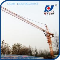 6 ton 56 m Boom Construction Building Self Erecting Hammer Head Tower Crane