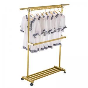 China H149 Heavy Duty Clothing Foldable Clothes Drying Rack With 3 Casters on sale