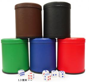 China Leather Dice Cup With Mini Camera / Casino Magic Dice Inside See Through The Dice By Video Phone on sale