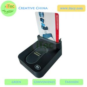 China ID Smart card reader with fingerprint sensor with Sam slot  USB fingerprint payment reader on sale