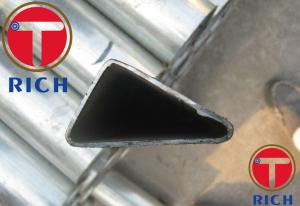 China Galvanized Triangular Seamless Steel Tubes / Special Section Pipe For Construction on sale