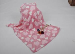 China Lovely Coral Fleece Heart Blanket for Airplane , Home , Hotel , toddler fleece blanket on sale