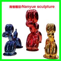 China Hotel mall deco  metal effect robert dog statue as decoration in park or hall center on sale