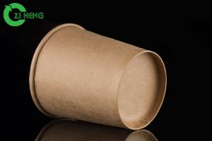 China Retain heat and vent moisture food grade kraft paper eco friendly 350ml soup cup on sale