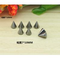 10*7mm Gun Black Bullet Rivet Spikes Stud Punk