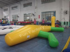 China Funny Inflatable Water Games 220v 50hz Air Pump For Theme Park on sale