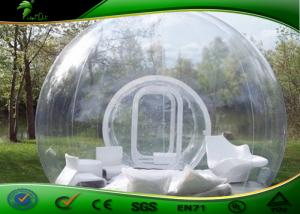 China Professional Inflatable Transparent Tent With Two Tunnels Bubble Hotel Rooms on sale