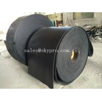 China Multi-ply black EP rubber conveyor belt abrasion and heat resistant on sale
