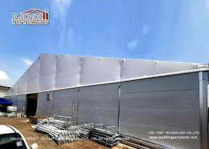 China Industrial Storage 30m Clear Span Tent With Double PVC Layer And Insulated Sandwich Walls Around on sale