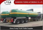 Fudeng 3 Axles Max 25Tons / 60m3 / 60000Liters Lpg Propane Tanker  , LPG Transport Trailer