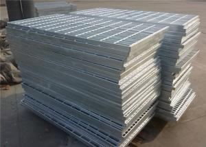 China Flat Stair  Gully  Galvanized Serrated Grating 30 X 4mm With 6X6 Or  8X8mm Bar on sale