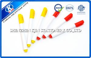China 9.8cm Red / Yellow Refill Whiteboard Marker Pens With Cap  For Students With EN71 Certification  on sale