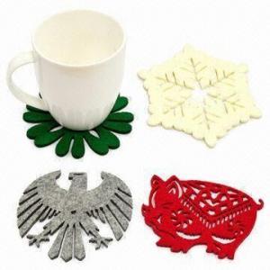 China Laser-cut Felt Free-form Coasters on sale
