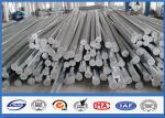9M 10M Electric Distribution Galvanized Steel Pole tapered steel tube 10 KV ~ 550 KV