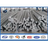 China 9M 10M Electric Distribution Galvanized Steel Pole tapered steel tube 10 KV ~ 550 KV on sale