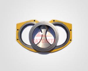 China Sell Catcrete Concrete Pump Parts XCMG Spectacle Wear Plate Wear Ring (Carbide Version) DN200 DN230 DN260 on sale