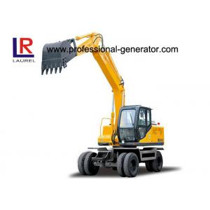 China 12.5 Tons Digging Wheel Excavator For Construction , 0.5cbm Vibratory Plate Compactor on sale