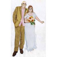 Embroidery digitizing personal wedding photo WHA11601 design services