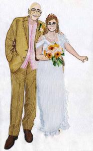 China Embroidery digitizing personal wedding photo WHA11601 design service on sale