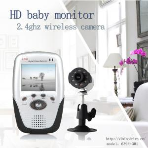 China 639R+301 2.5 inch wireless baby monitors IR night vision camera and SD card record receiver DVR on sale