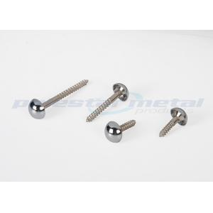 China ISO Specialty Hardware Fasteners M3 Brass Mirror Screws / Precision Brass Slotted Round Head Wood Screws on sale