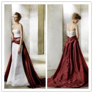 Fashion Design Two Colour Taffeta Wedding Dress Nwd1731