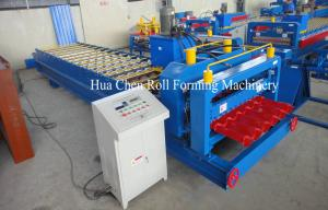 China Roman Type Popular Glazed Tile Roll Forming Machine / Cold Roll Forming Machine on sale