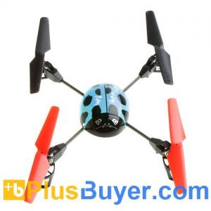 China Beetle 4 Channel RC Remote Control Helicopter with 2.4G Transmitter - Blue on sale