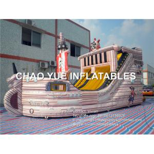 China Inflatable Pirate Ship Slide Inflatable Sports Games With Sewing / Stitching on sale