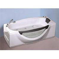 1800MM Small Portable Hot Tubs , Single Person Freestanding Whirlpool Tub With Light