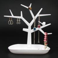 China Plastic Bird Tree Jewelry Display Bracelet Ring Necklace Earring Stand Rack Jewellery Holder on sale