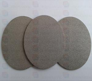 China Hydrogen fuel cell plate titanium powder sintering filter plate on sale