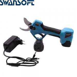 China LED Lithium Battery Portable Cutting Shear Scissor Professional Cordless 3.2CM Electric Pruning Scissors on sale