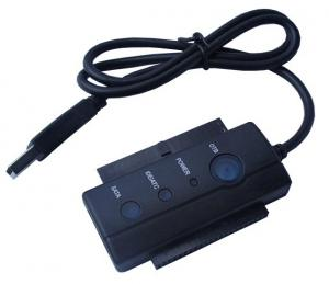"""Quality USB2.0 to 2.5 3.5""""IDE+SATA,hard disk switching line OTG function and LED for sale"""