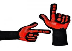 China BBQ Grilling Heat Resistant Work Gloves Breathable Customized Silicone Printing on sale