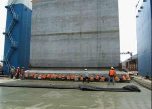 China box culvert launching airbag, caisson moving airbag, rubber air ballon, rig launching airbag on sale