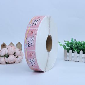 China Waterproof Custom Printed Vinyl Stickers Self Adhesive For Baby Wipes on sale