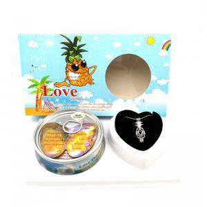China Nice Gift Love Pearl and Wish Pearl Gift Set With Neckalce and Pineapple Cage Pendant on sale