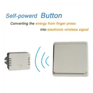 China Battery-free Wireless Wall Switch Remote Control Light Switch Waterproof IPX7 No Battery No Wire on sale