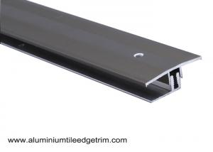 China Anodized Aluminium Floor Border Trims With Rail For Floor Expansion Joint on sale