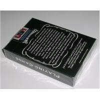 China Paper Invisible Jack Daniel's Marked Barcode Playing Cards For Poker Reader and Scanners on sale