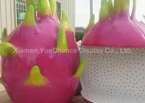 China Custom Oversize Fiberglass Dragon Fruit Statues , Custom Fruit Statues Handmade on sale