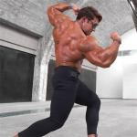 Thin Waist Buttock Lifting Mens Training Leggings Wireless EMS Suit MLXL size